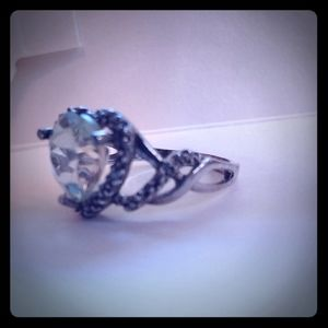 Green amethyst ring size 6